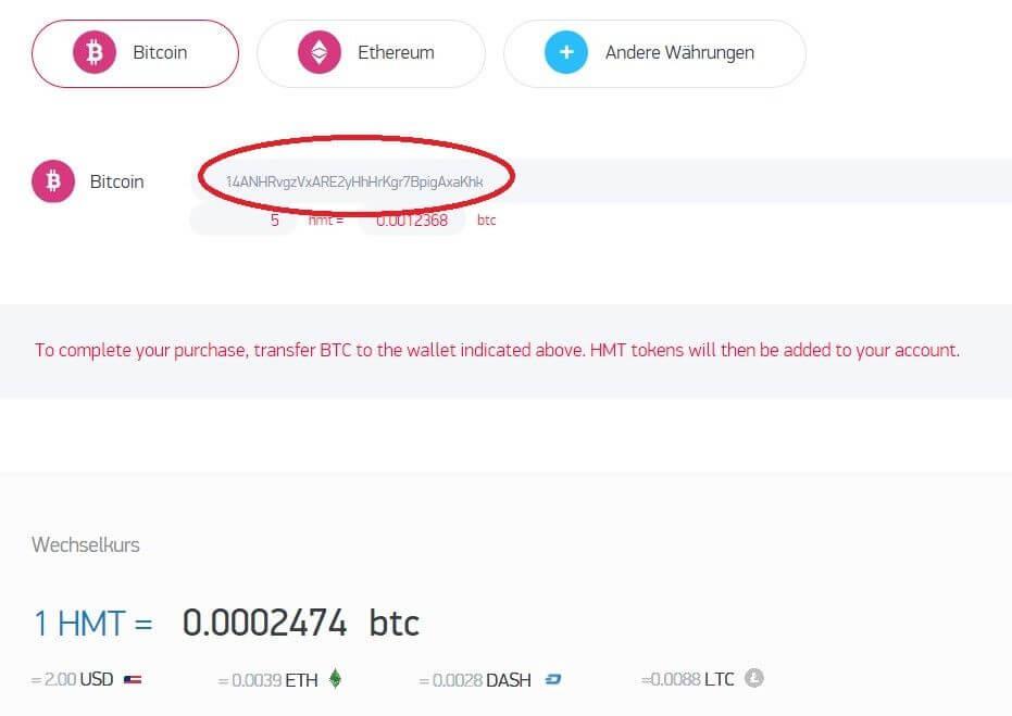 Bezahlt wird beim Hamster ICO mit Kryptowährungen
